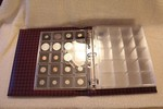 3-Ring Binder Album for 2x2 Plastic Quadrum Coin Capsule Holders, Burgundy