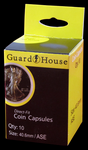 10 Guardhouse Direct Fit Clear Capsules For American Silver Eagle Dollar, 40mm