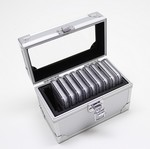Aluminum Storage And Display Box Case For 10 PCGS or NGC Coin Slab Holders