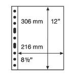 1 Pocket Grande Sheets  For U.S. Standard Mint-Sheets, Pack Of 5, Black
