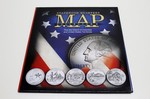 Collector's Statehood Quarter Map Includes D.C. And Territories, Full Color